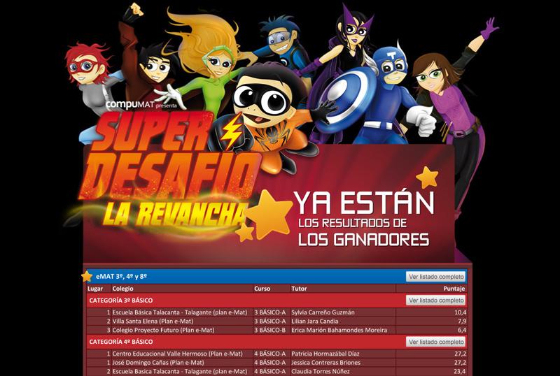 "Afiche Compumat Concurso ""Super Desafío La Revancha"""
