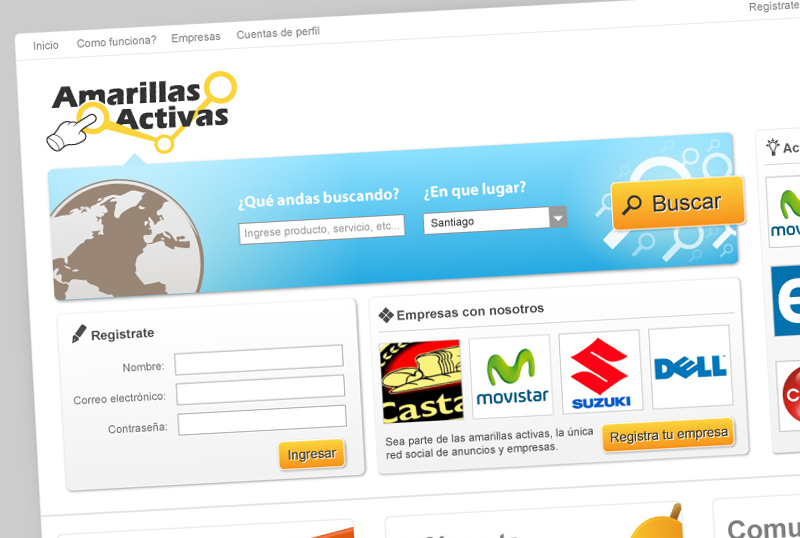 Sitio web Amarillas Activas